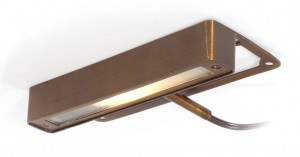 Solid brass LED under deck light.