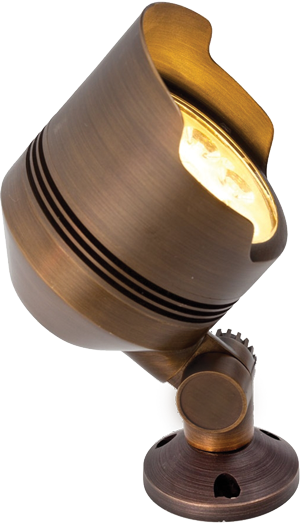 Abulous Lifetime Warranty Brass Flood Light