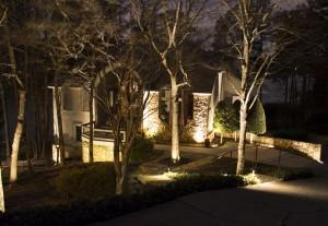 Atlanta Home with Landscape Lighting